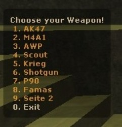 Weapon Menu Screenshot