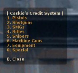 Caskio's Credit System Screenshot