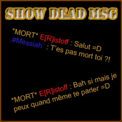 Show Dead Message Screenshot