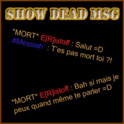 Show Dead Message ScreenShot