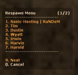 Respawn Menu Screenshot