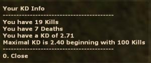 KDlimit, limit the max. KD English / German Screenshot