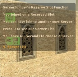 ServerJumper + Reserve Slot Release 1.5 English/German Screenshot