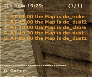 Auto Map!, Change at custom times the Map ScreenShot