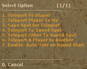 Admin Teleport Screenshot