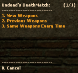 Undead's DeathMatch Screenshot
