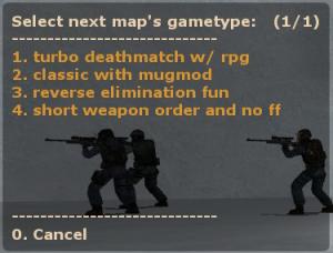 GunGame5 Winner Menu ScreenShot