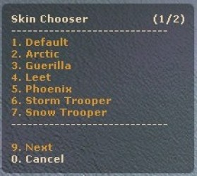 Skin Chooser Screenshot