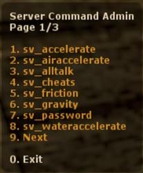 Server Command Admin ScreenShot