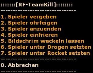 RF-TeamKill-Menu Screenshot