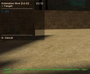 Extensive Give ScreenShot