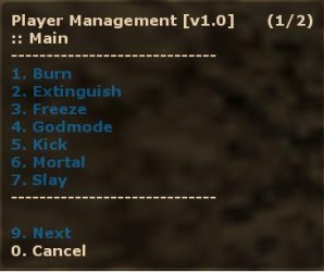 Player Management Screenshot