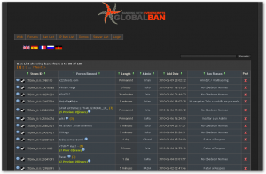 GlobalBan ScreenShot