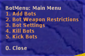 BotMenu ScreenShot