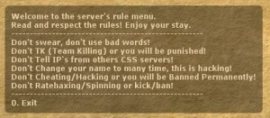 Rulesmenu Screenshot
