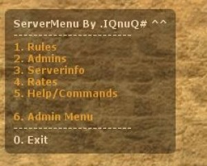 Servermenu v3.0 Screenshot