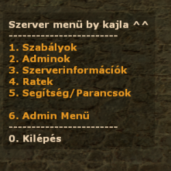 Szerver men v3 Magyar vltozata Screenshot