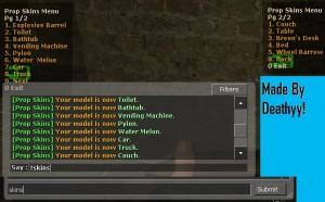Prop Skins Menu ScreenShot