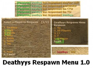 Deathyys Respawn Menu (DRM) Screenshot