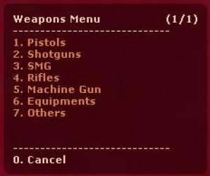 weapons from menu (ORANGEBOX) ScreenShot