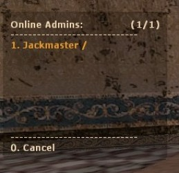 Online Admin List by Jackmaster Screenshot