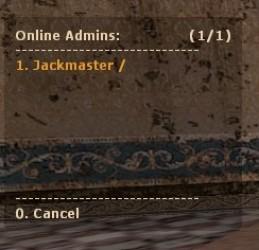 Online Admin List by Jackmaster ScreenShot