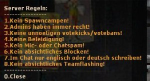 Server Regeln ScreenShot