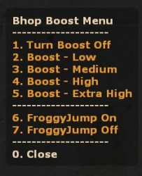 BHopBoost+FroggyJump with Admin Menu Screenshot