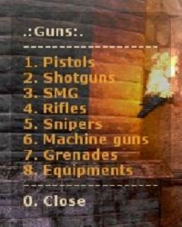 Guns Menu ScreenShot