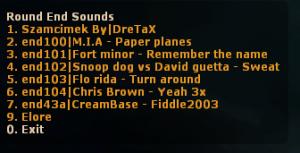 Round End Sound Names  ScreenShot