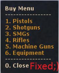 Zombie Buymenu ScreenShot