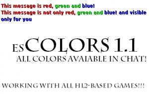 esc - Eventscripts Colors! ScreenShot