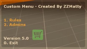 Custom Menu * Fixed UPDATED * Screenshot